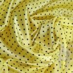 Атлас желтый в горошек