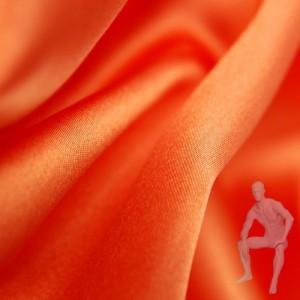 Атлас ткань оранжевая