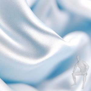 Атлас ткань светло-голубая