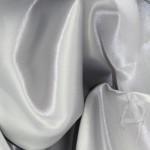 Ткань атласная серебристая