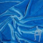 Бархат-стрейч голубой