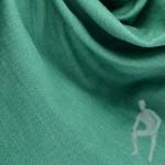Джинса стрейч зеленого цвета