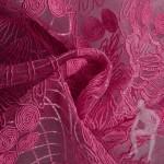 Кружево розовое