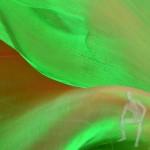 Органза зелёная с отливом