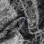Ткань серебряная парча