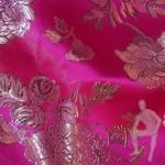 Парча розовая