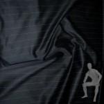 Сатин черный в полоску