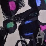 Разноцветная трикотажная ткань