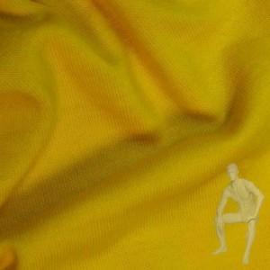 Ткань трикотажная желтая